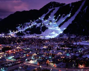 Snow King Ski Mountain at Night