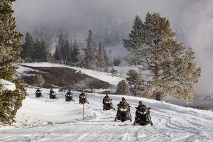snowmobiling tours in yellowstone