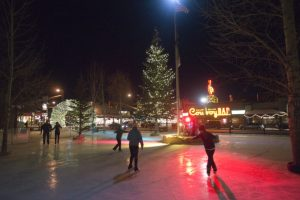 ice skating in Jackson's town square