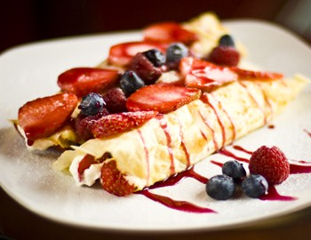 Crepes at Cafe Boheme in Jackson Hole