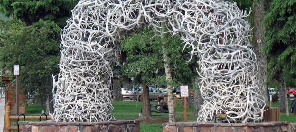 Jackson Hole Town Square Antler Arches