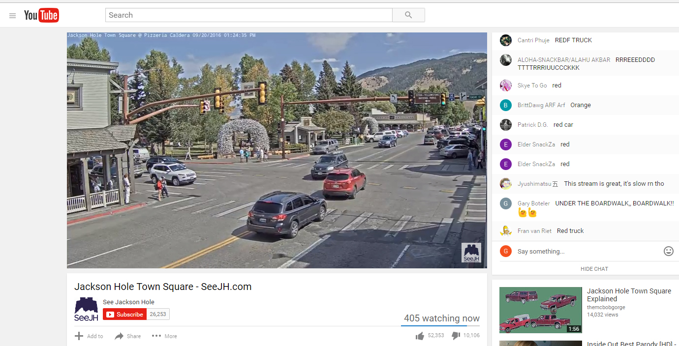 everyone is watching jackson hole town square web cam jackson