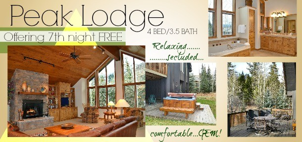 Peak Lodge 7th Night Free