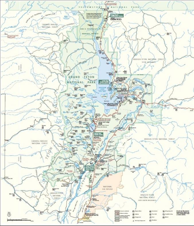 Jackson Hole Area Maps - Wy map