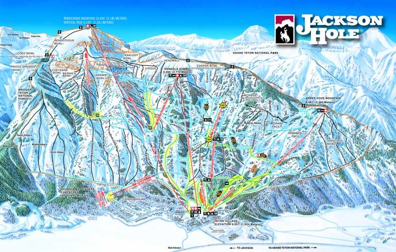 Jackson Hole Area Maps - Western us ski resorts map
