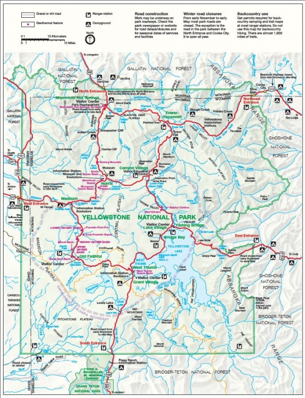 Map Of Jackson Hole Wyoming And Surrounding Area Jackson Hole Area Maps