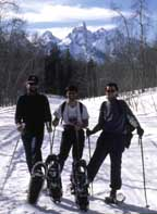 Winter Snowshoers on a winter Hiking Trip in Jackson Hole!